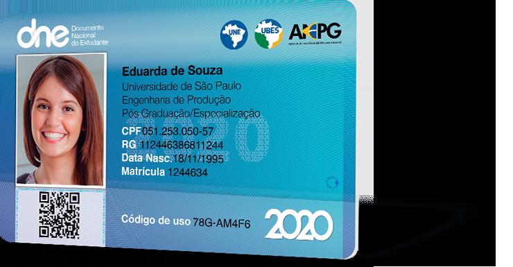Documento do Estudante 2020 - Válido em todo o Brasil