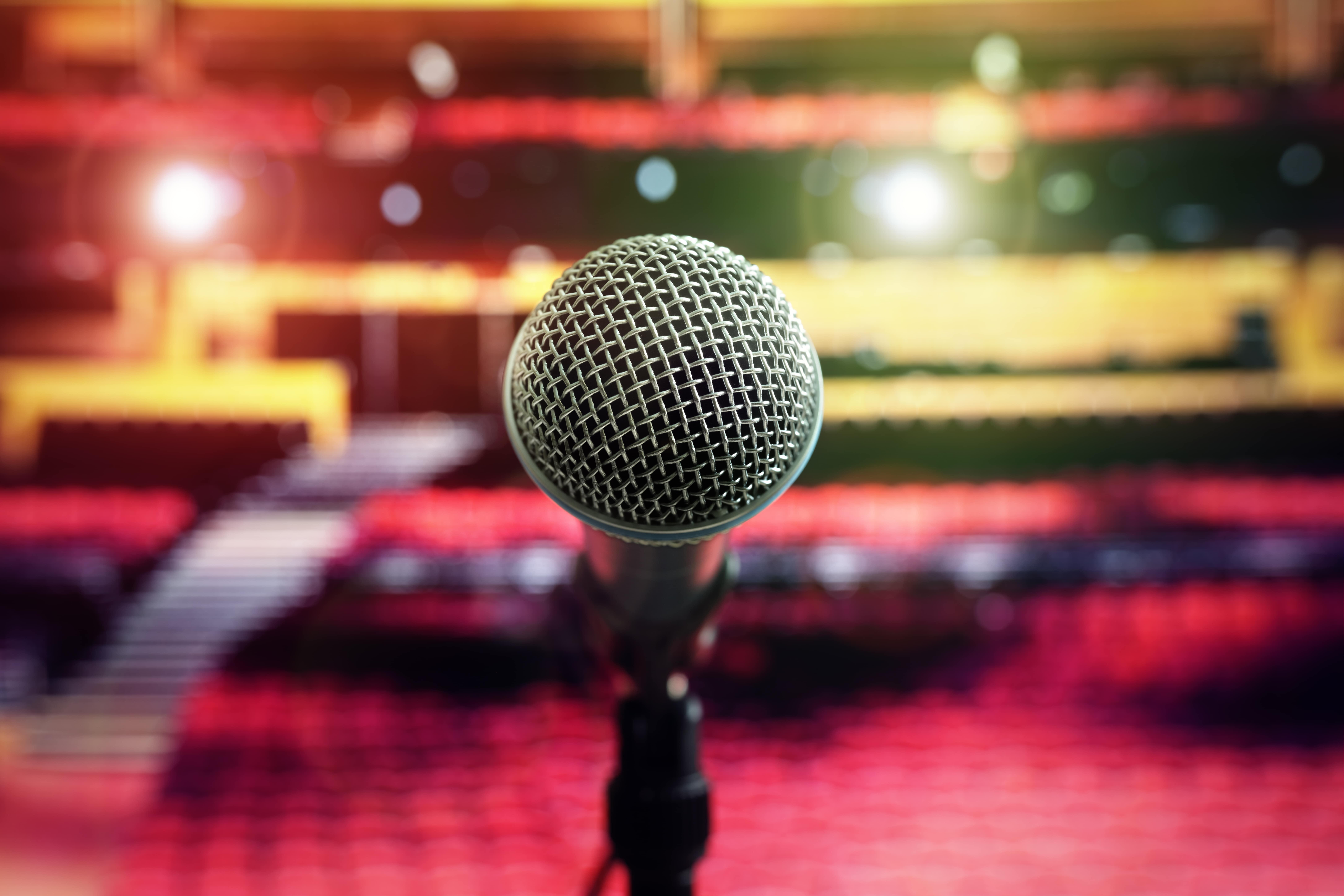 microfone em um show